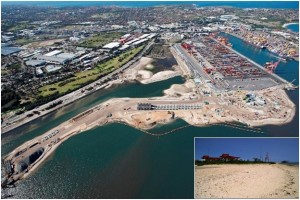 (Construction of Port Botany Expansion, insert pre-construction Penrhyn Spit)